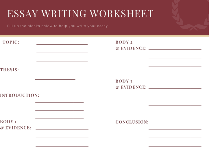 Maroon and White Grungy Elegant Essay Graphic Organizer (1)